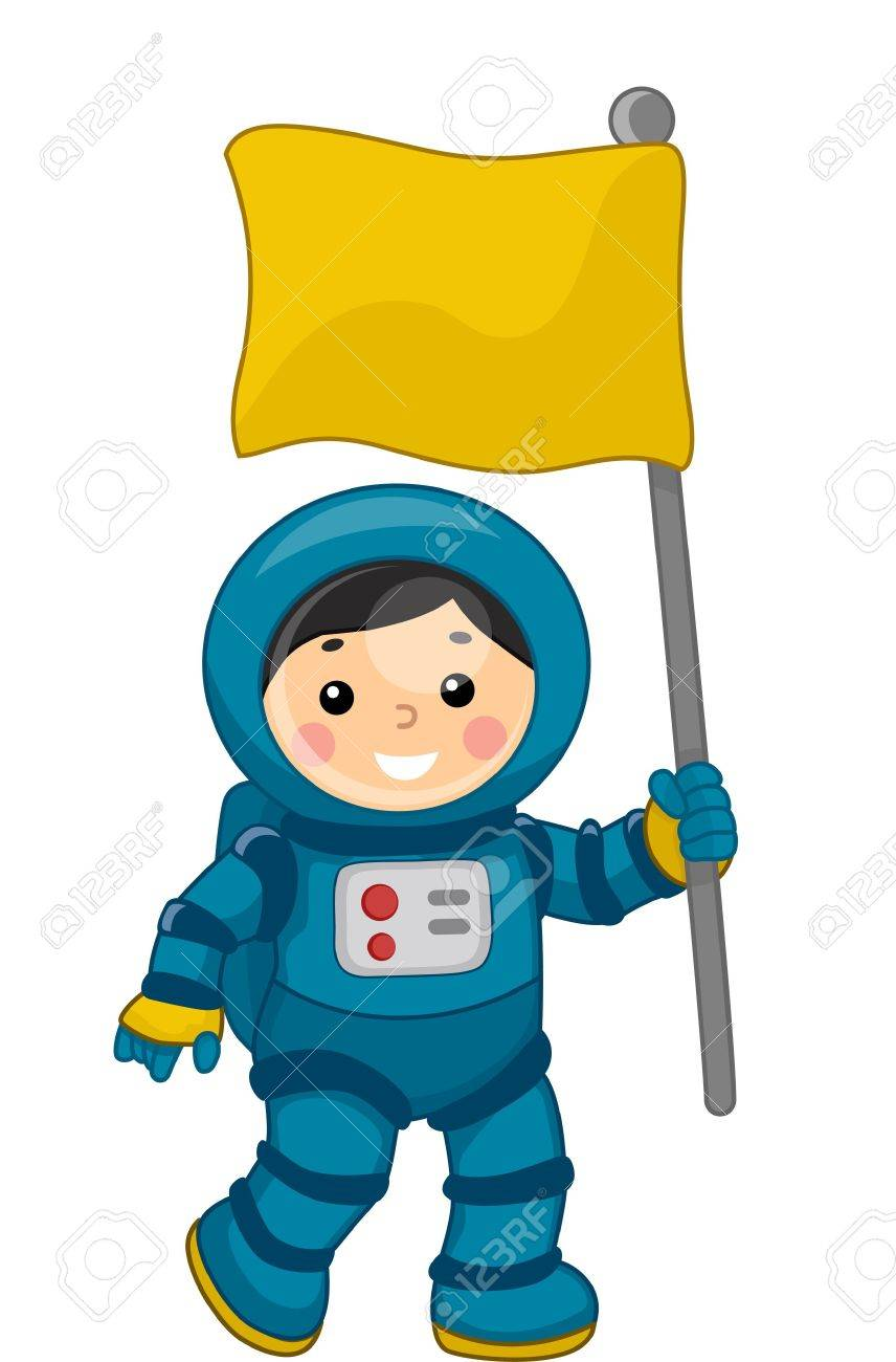 illustration of a young male astronaut carrying a flag in outer rh 123rf com clipart astronaut helmet clipart astronaut