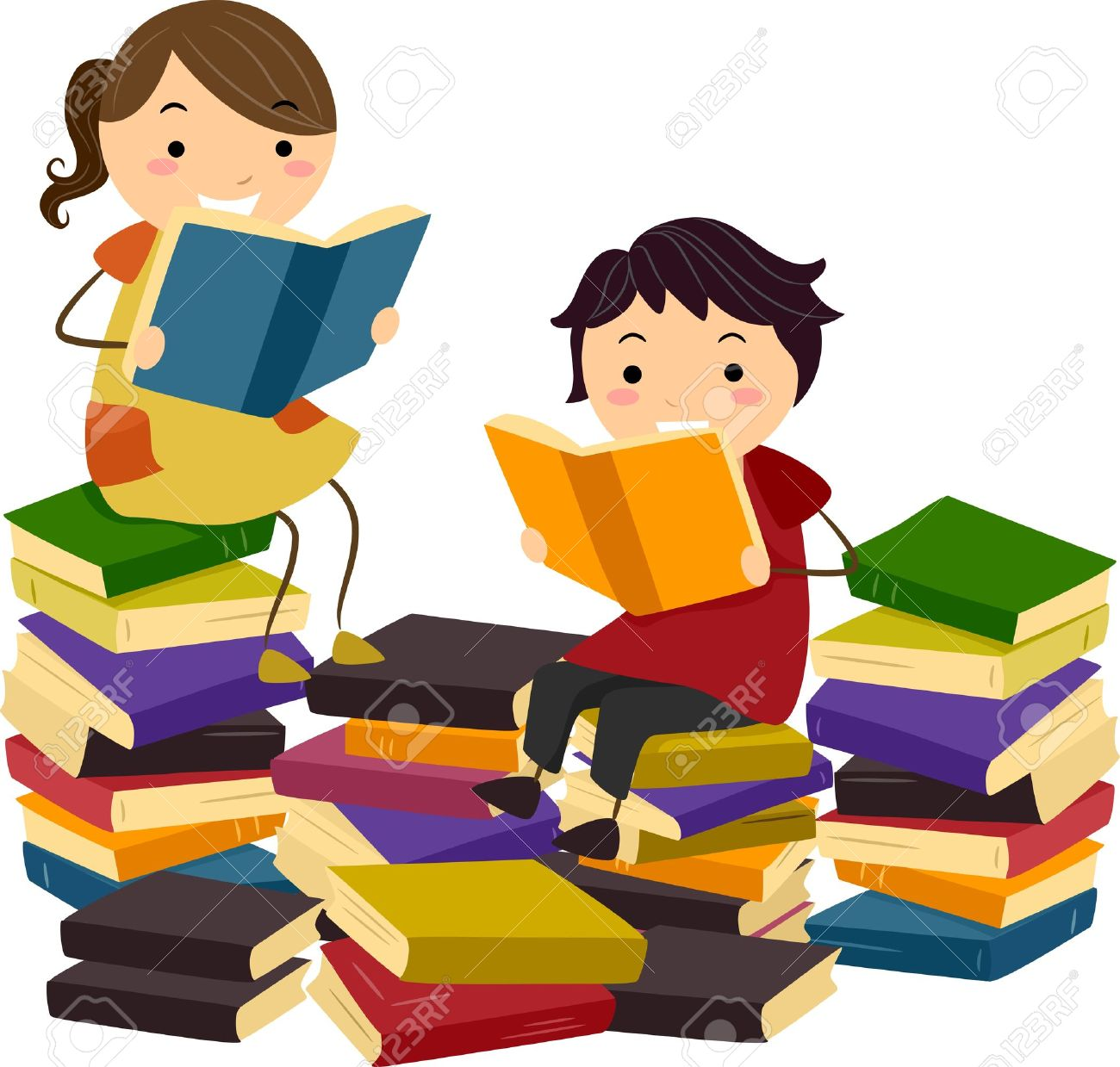Ilustración De Los Niños Del Palillo Libros De Lectura De Las ...