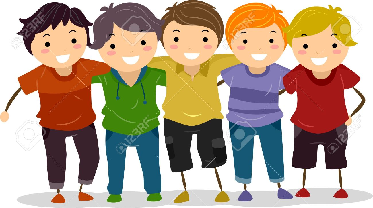Group Of Friends Having Fun Clipart