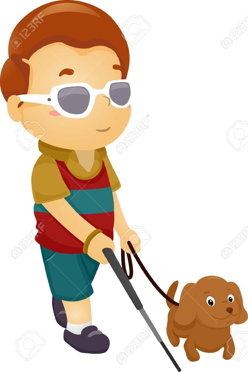 16174413-illustration-of-a-blind-boy-bei