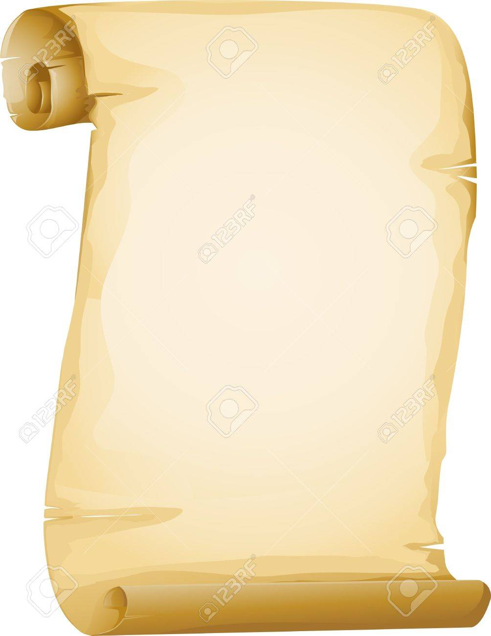 Illustration of an Old Scroll Stock Photo - 17430090