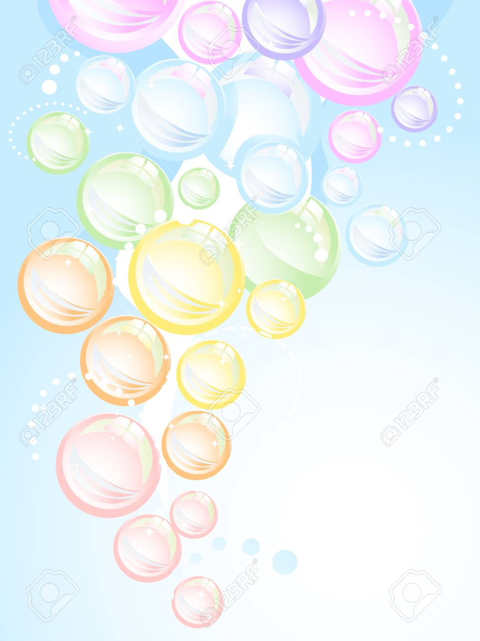 カラフルな虹の泡の背景のイラスト の写真素材画像素材 Image 17430200