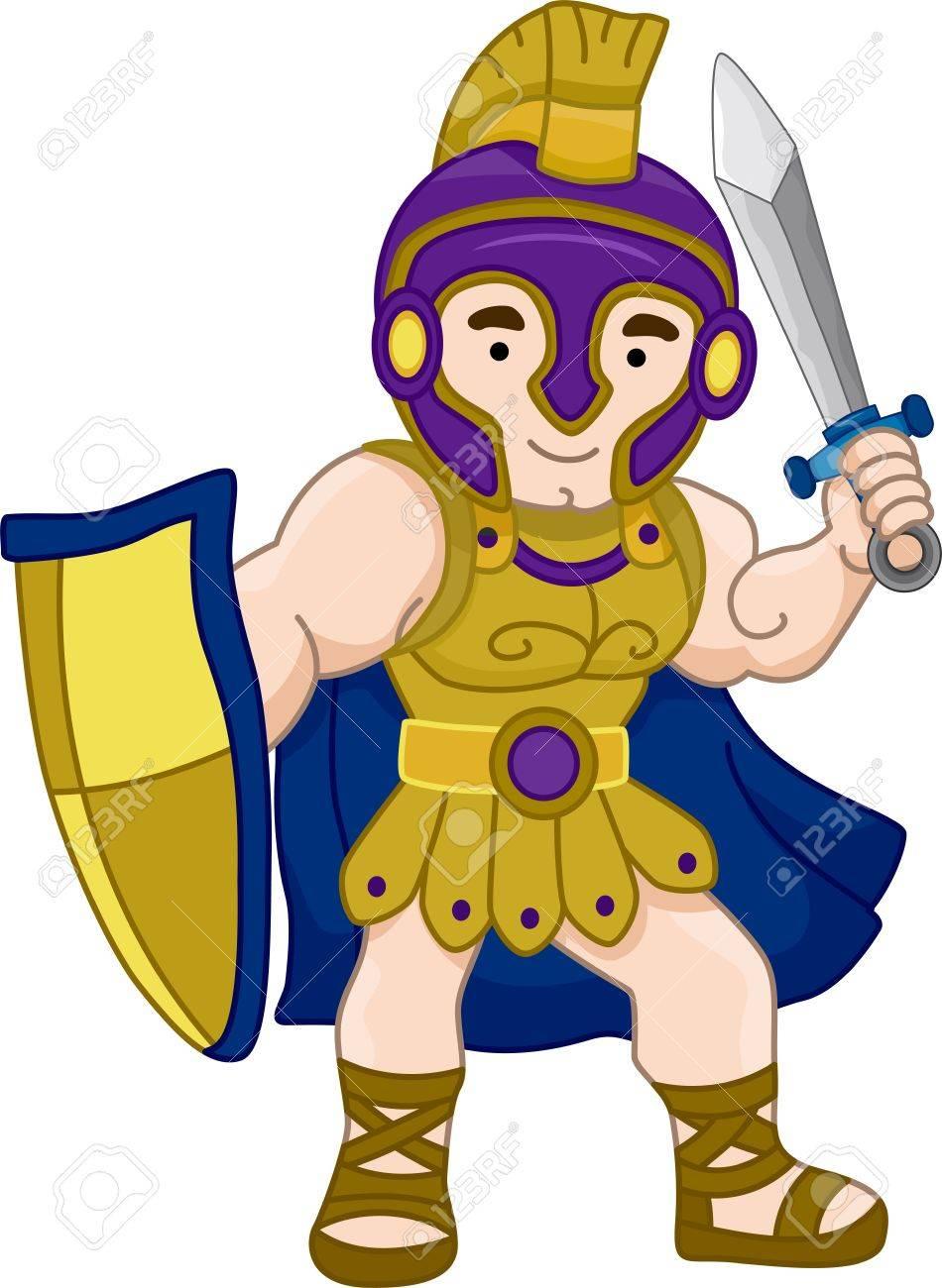 古代ギリシャの戦士のイラスト の写真素材画像素材 Image 17430197