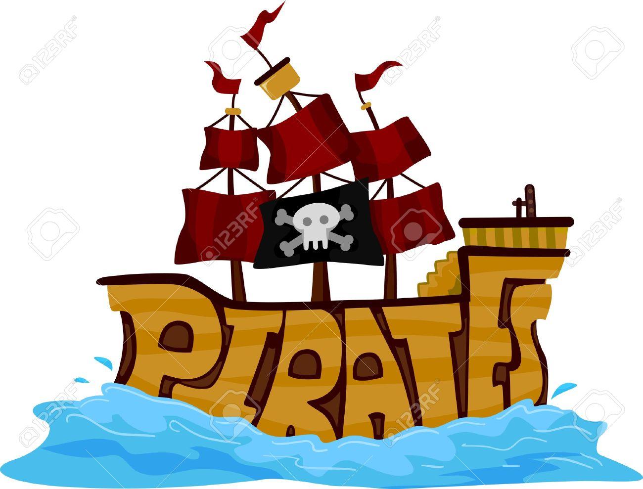 Pirate Ship Nautical Vessel stock vector art 165742949 | iStock