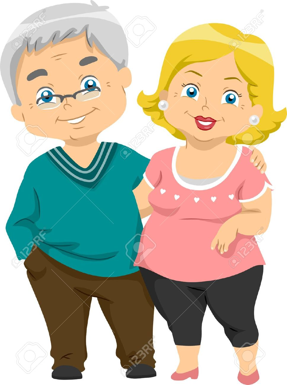 illustration of happy senior couples stock photo picture and rh 123rf com