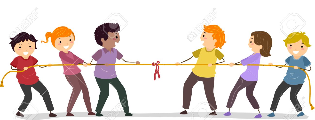 illustration of stickman people playing tug of war stock photo rh 123rf com tug of war clipart free tug of war clipart black and white