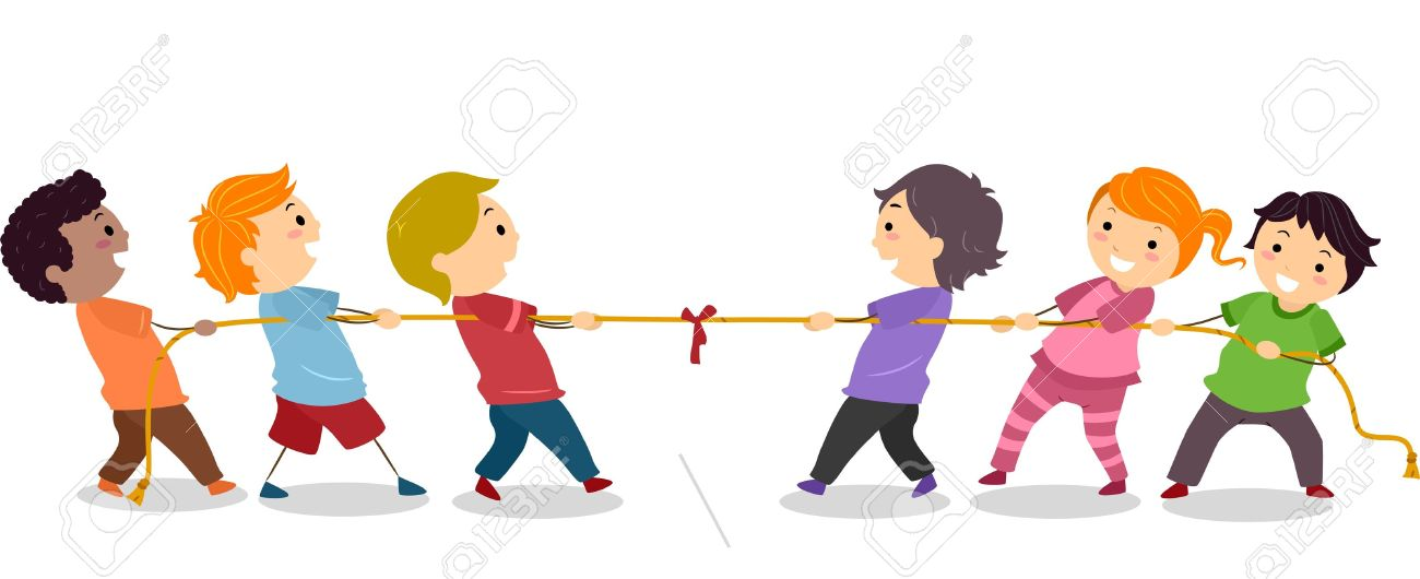 illustration of little kids playing tug of war stock photo picture rh 123rf com tug of war clipart black and white tug of war cartoon clip art