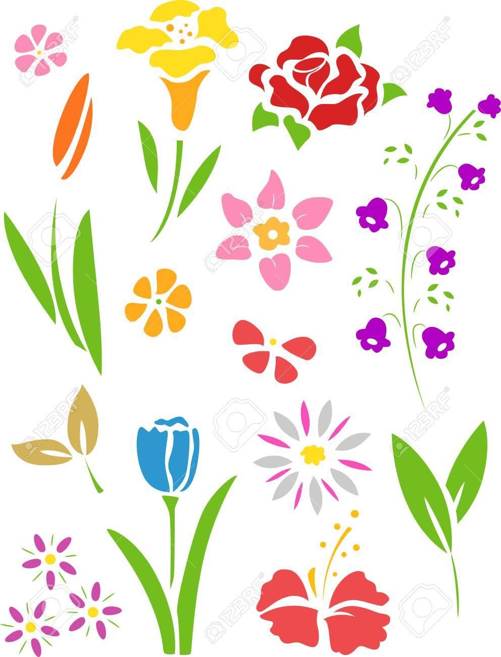 花のステンシルのイラスト の写真素材画像素材 Image 20571004