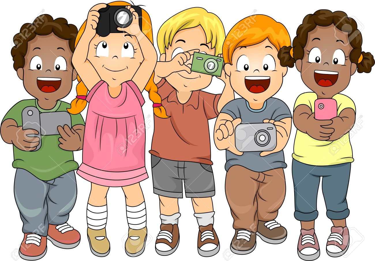 Image result for kids taking photos clipart