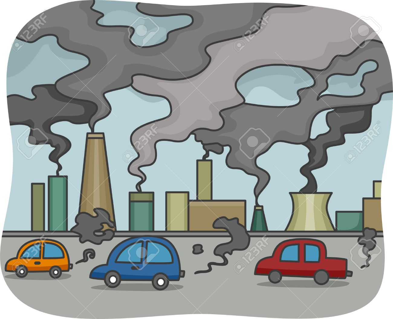 illustration of air pollution stock photo picture and royalty free rh 123rf com cross contamination clipart Text Message Clip Art