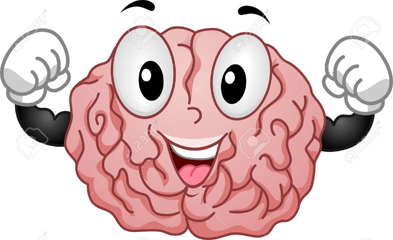 illustration of strong brain mascot stock photo picture and royalty rh 123rf com cartoon brain clipart free Brain Illustrations Free