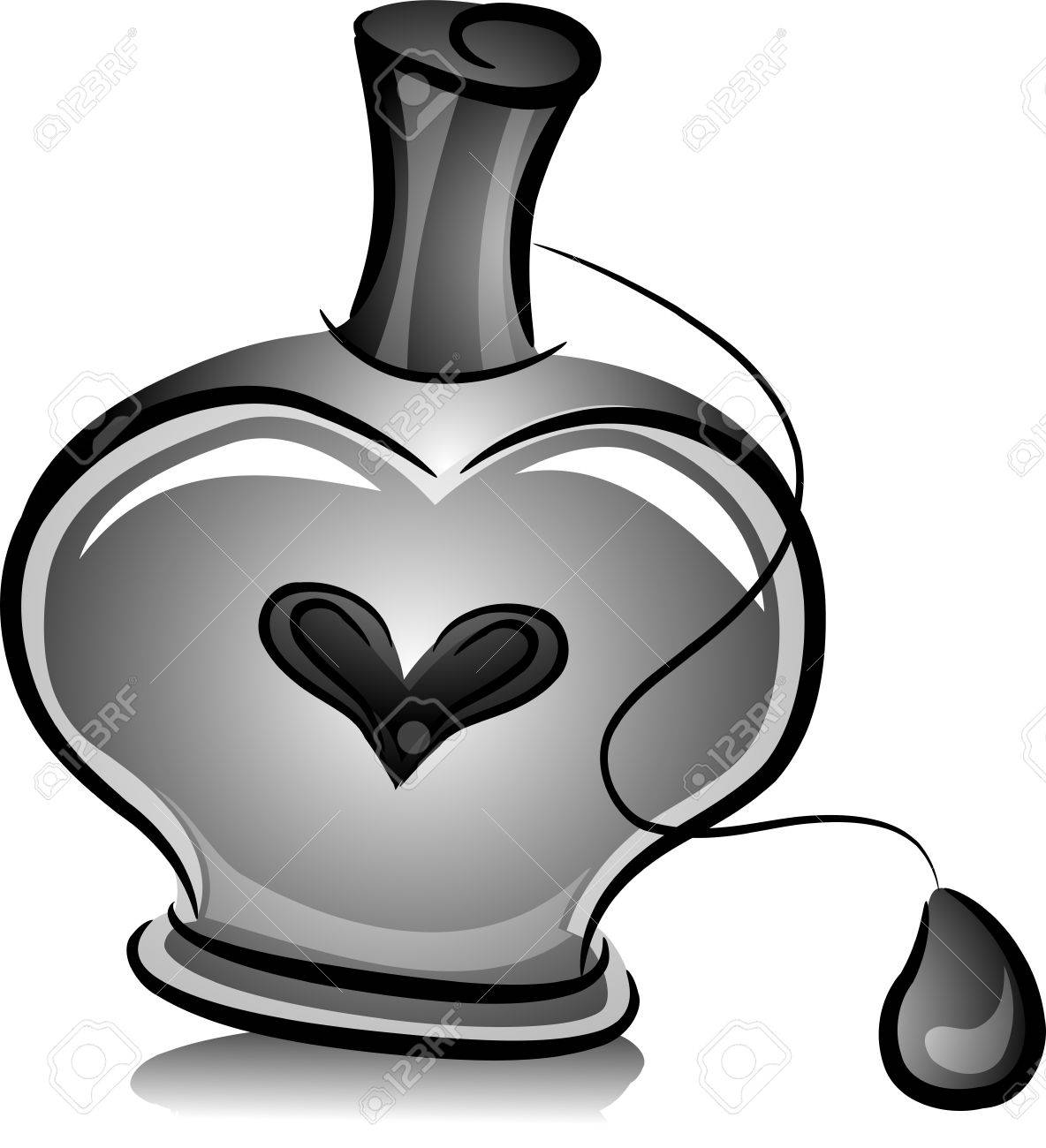 perfume black and white
