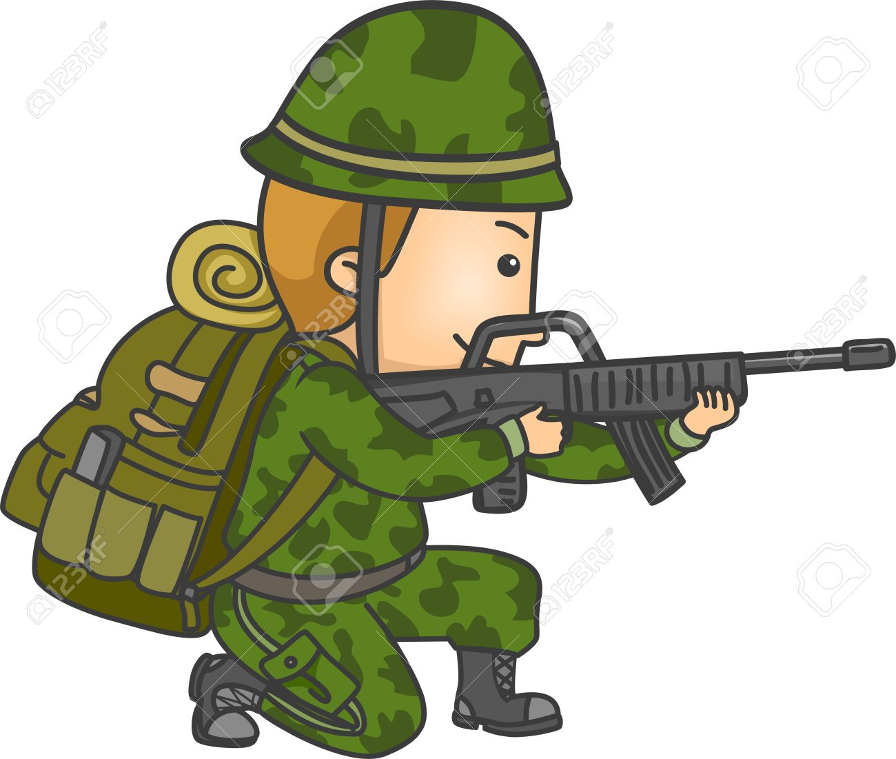 illustration of a soldier in camouflage uniform holding a rifle rh 123rf com camouflage frame clip art camouflage frame clip art