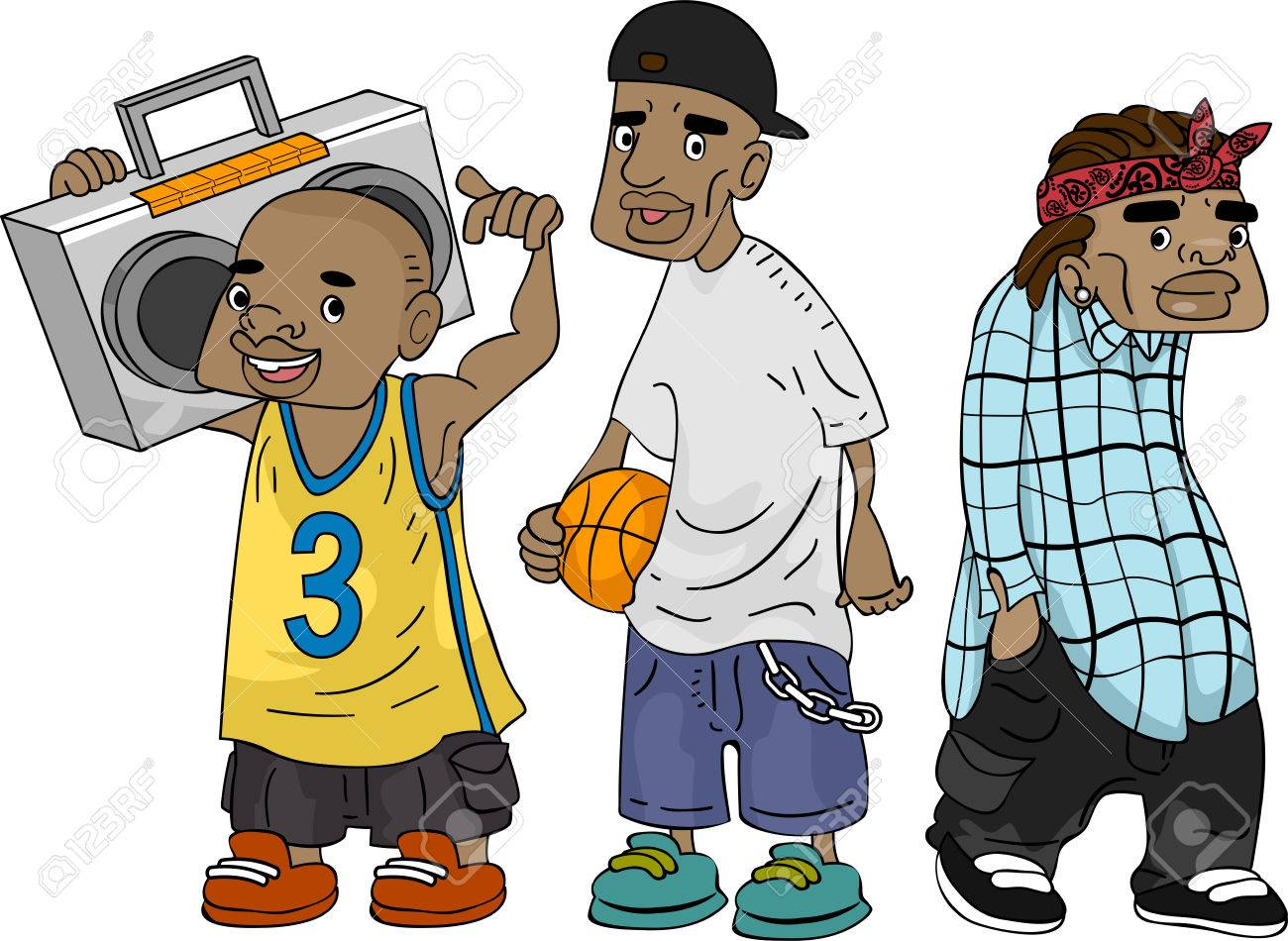 Illustration of african american teens sporting a ghetto look illustration of african american teens sporting a ghetto look stock illustration 26342225 sciox Images