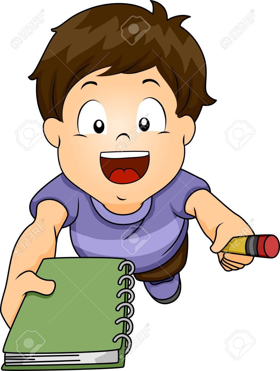 Resultado de imagen para niño con un cuaderno