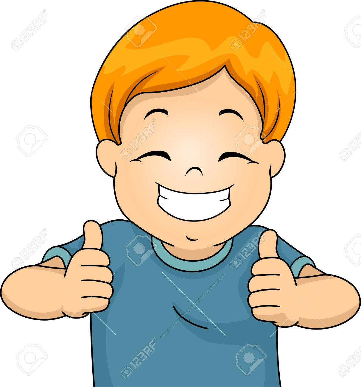 illustration of a little boy giving two thumbs up stock photo rh 123rf com