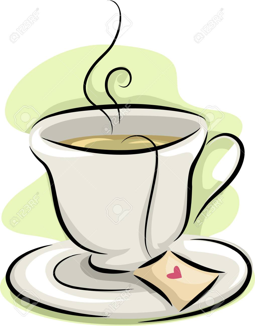 Illustration Featuring A Hot Cup Of Tea Stock Photo Picture And
