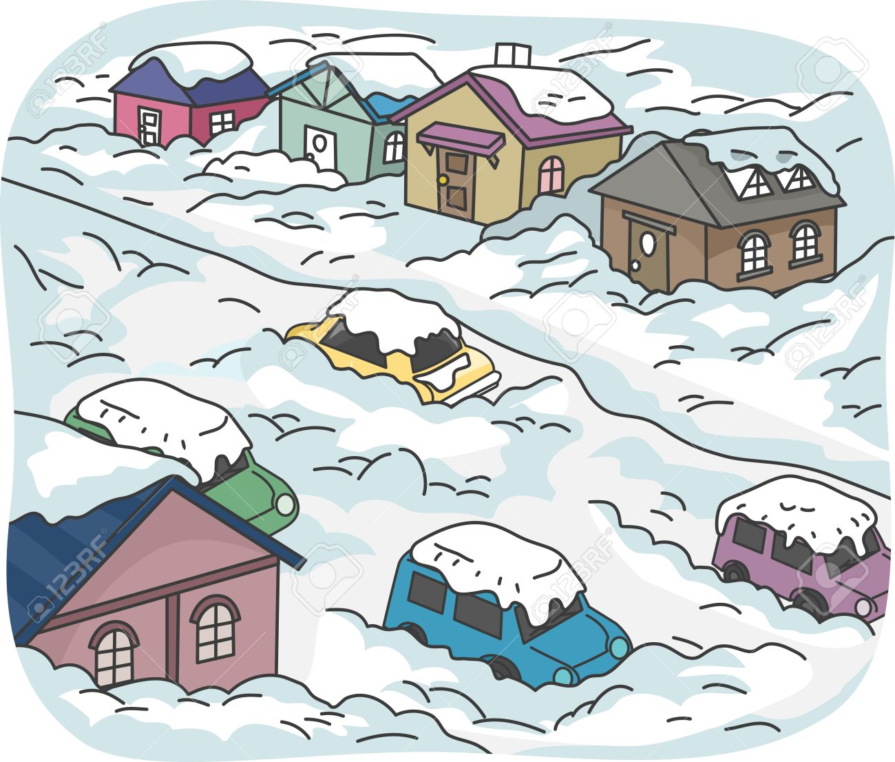 Buried in Snow Clip Art