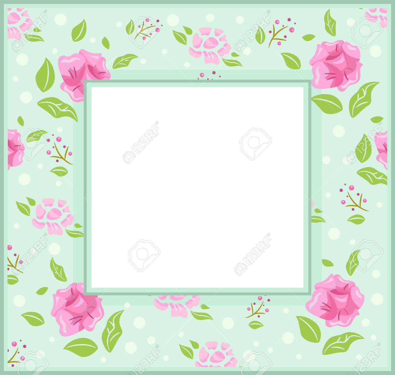 Frame Illustration With A Shabby Chic Theme Stock Vector