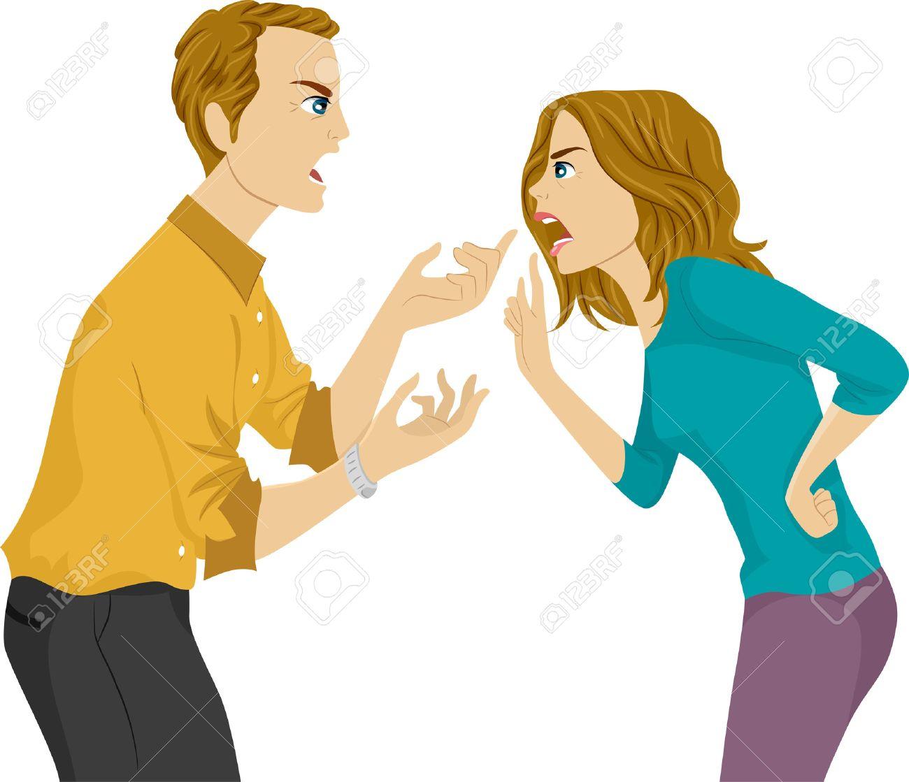 夫と妻の論争の図のイラスト素材・ベクタ - Image 29571705.