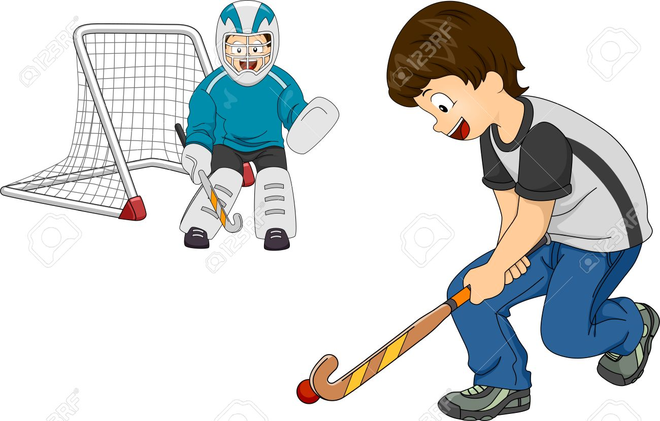 Illustration Featuring Little Boys Playing Indoor Hockey Royalty Free Cliparts Vectors And Stock Illustration Image 30333362