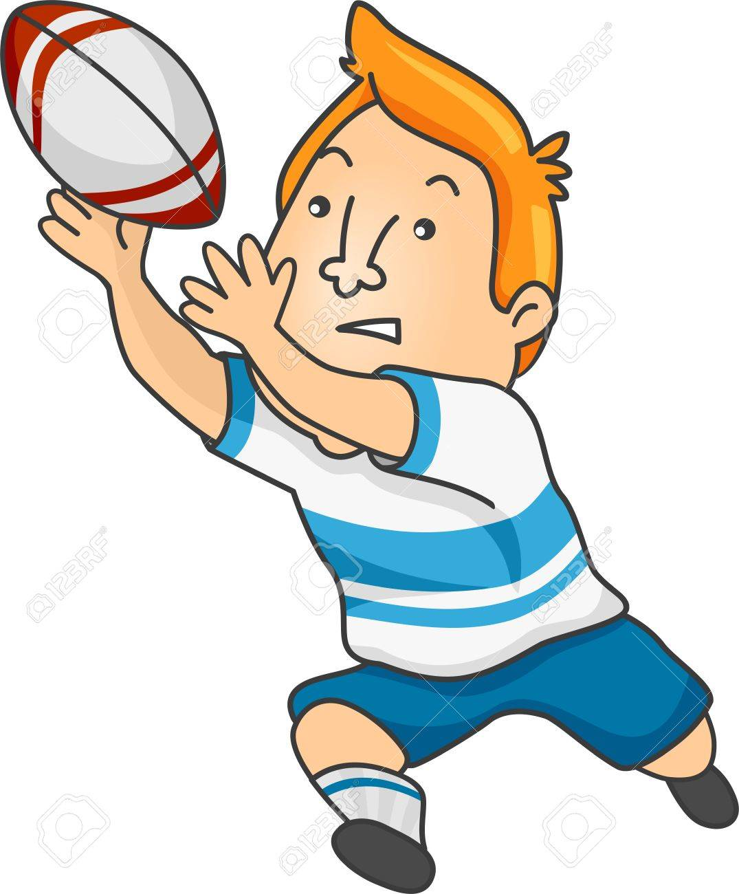 illustration of a rugby player catching a rugby ball royalty free rh 123rf com rugby clipart png rugby clipart images