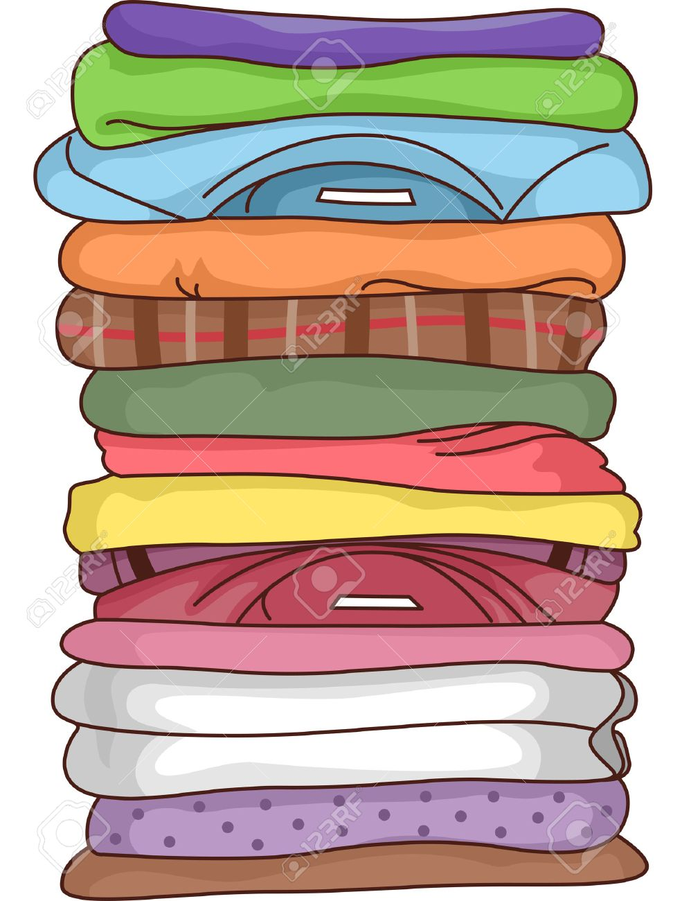 Illustration Featuring a Pile of Folded Clothes - 31863220