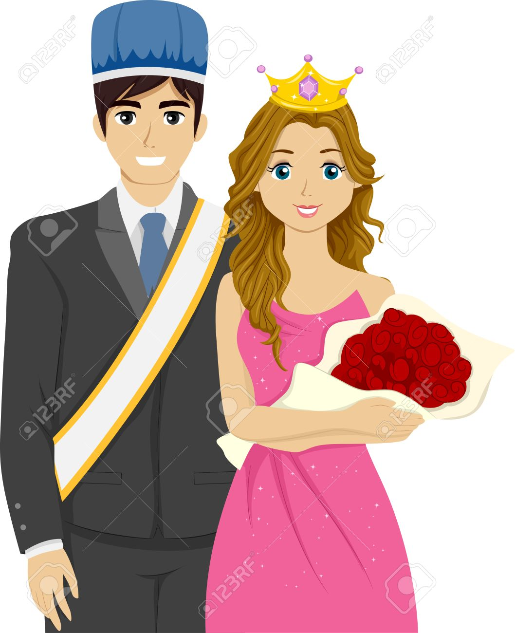 Image result for homecoming king and queen clipart