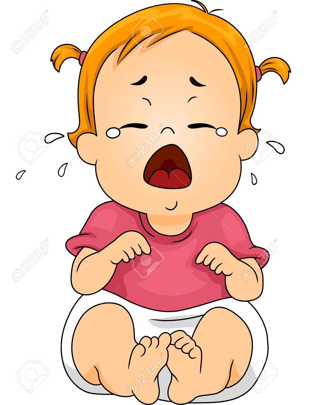 illustration featuring a baby crying out loud royalty free cliparts rh 123rf com baby girl crying clipart crying baby cartoon clipart