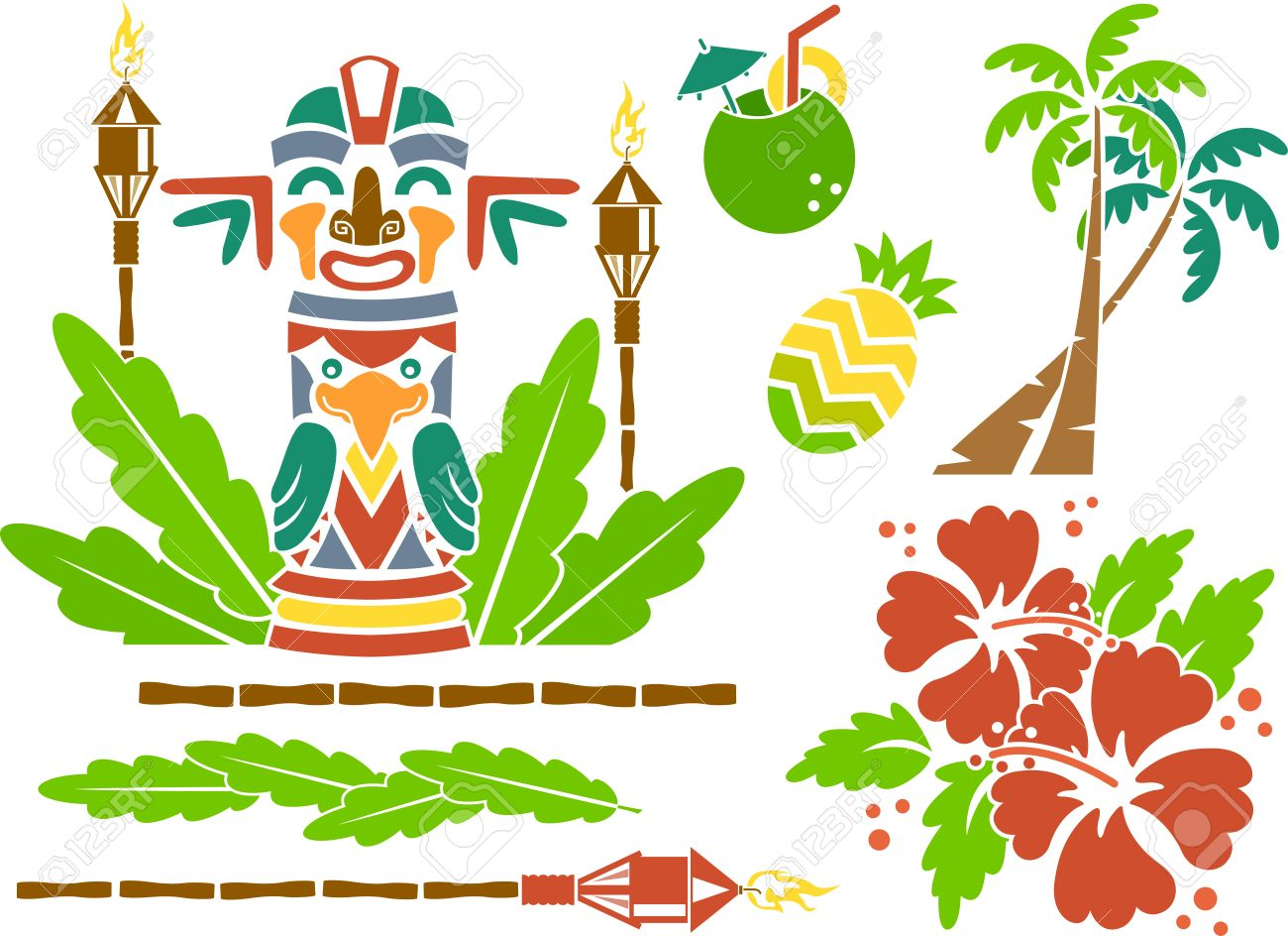 Illustration featuring stencils of hawaii related items royalty free illustration featuring stencils of hawaii related items stock vector 33001627 izmirmasajfo