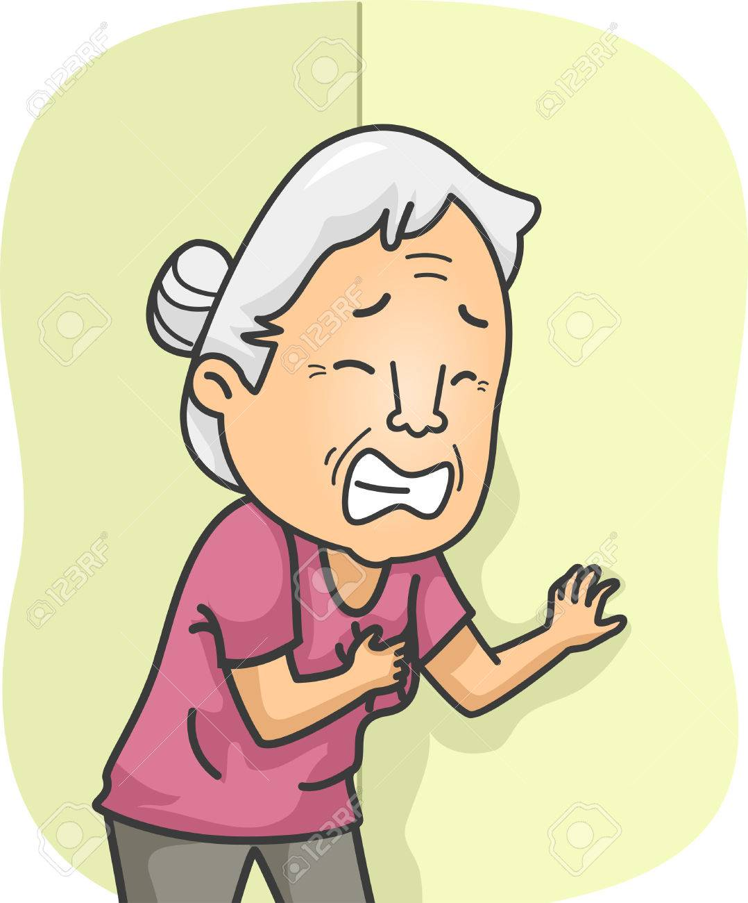 illustration featuring an elderly female having a heart attack rh 123rf com heart attack clipart free heart attack clipart free