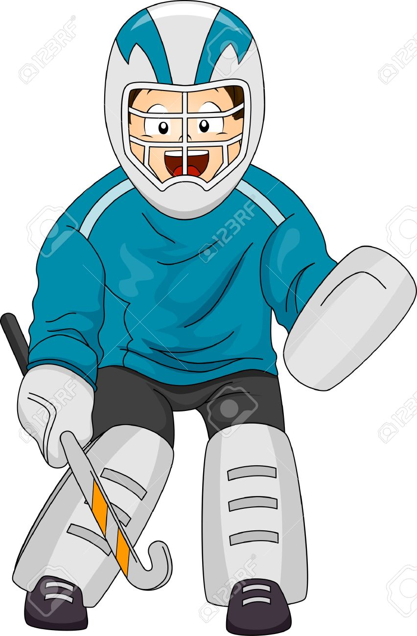 Image result for hockey gear cartoon