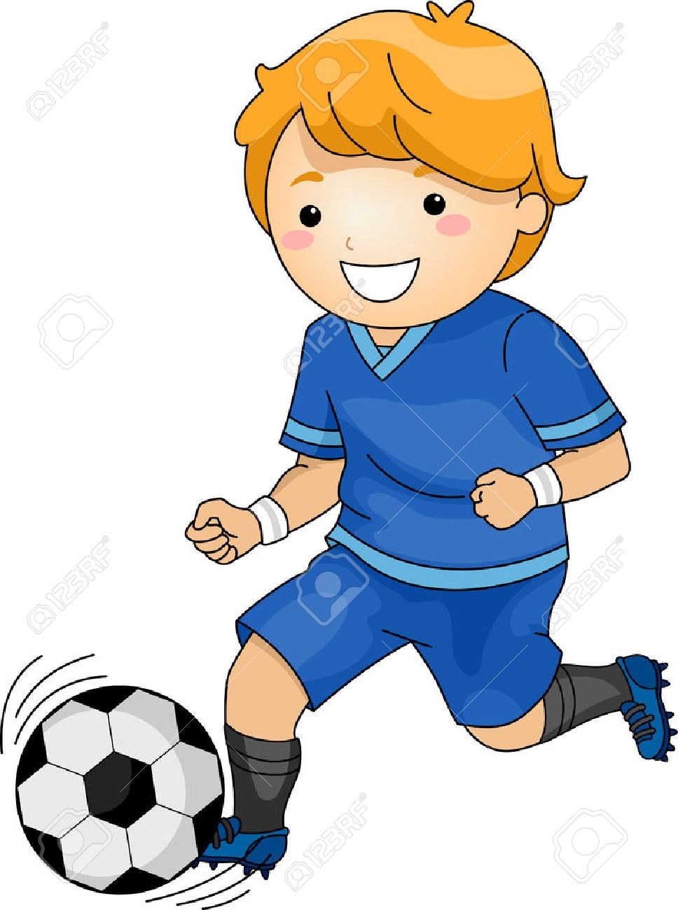 illustration featuring a young soccer player running across the rh 123rf com soccer player clip art black and white soccer player clipart png