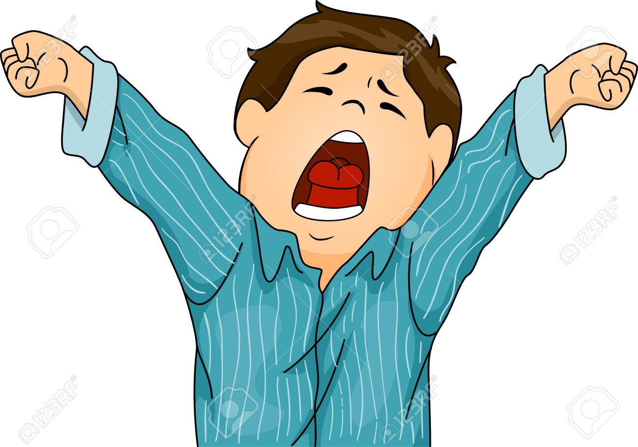 Illustration Featuring A Boy In Pajamas Letting Out A Big Yawn ... for Clipart Yawn  111bof