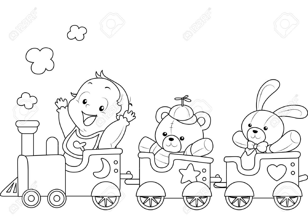 10 Dibujos De Trenes Infantiles Para Colorear