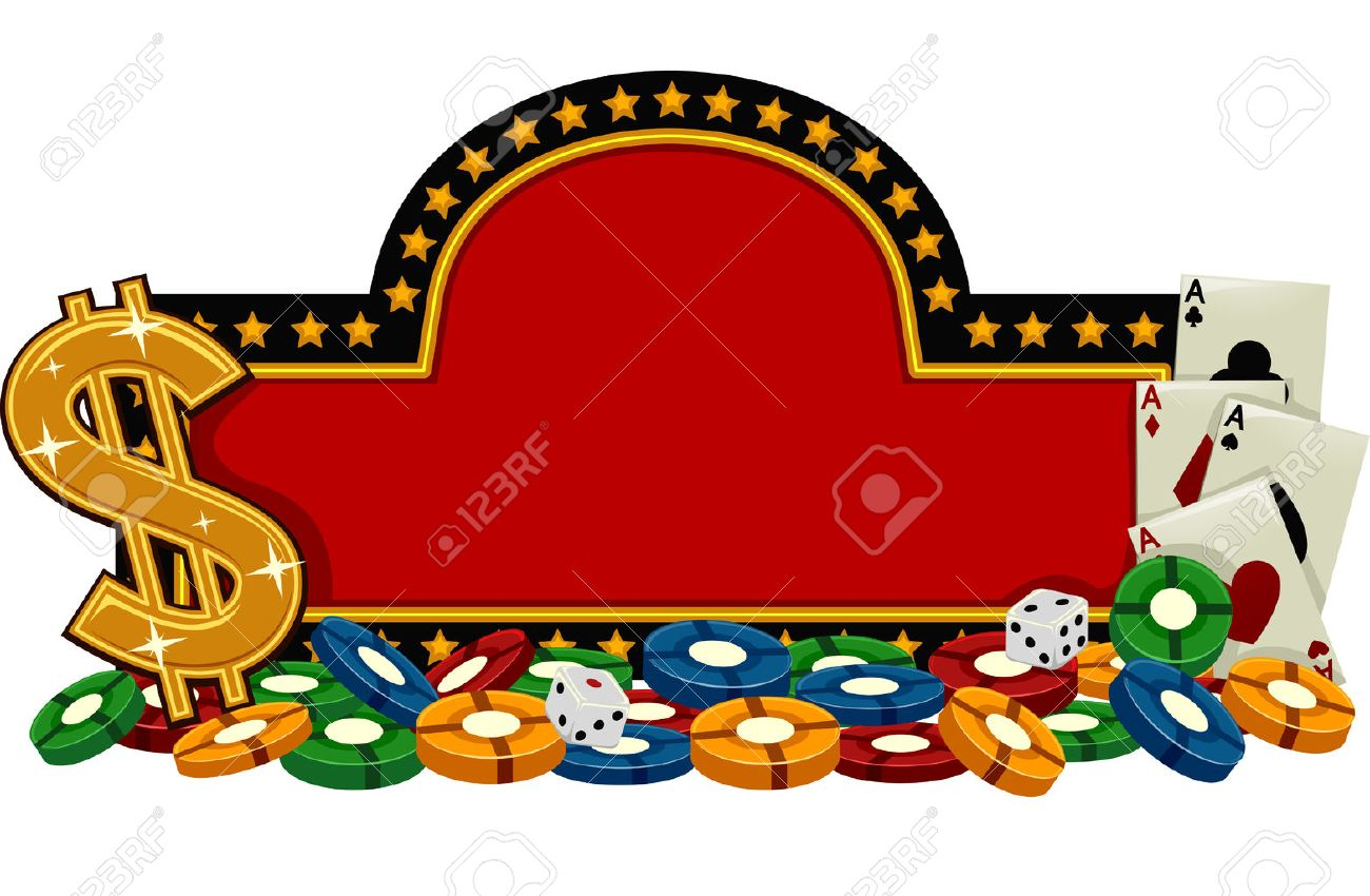 banner illustration featuring a casino sign surrounded by gambling rh 123rf com gambling clip art casino gambling clipart borders