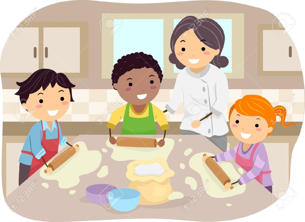 Image result for children making pizza  clipart