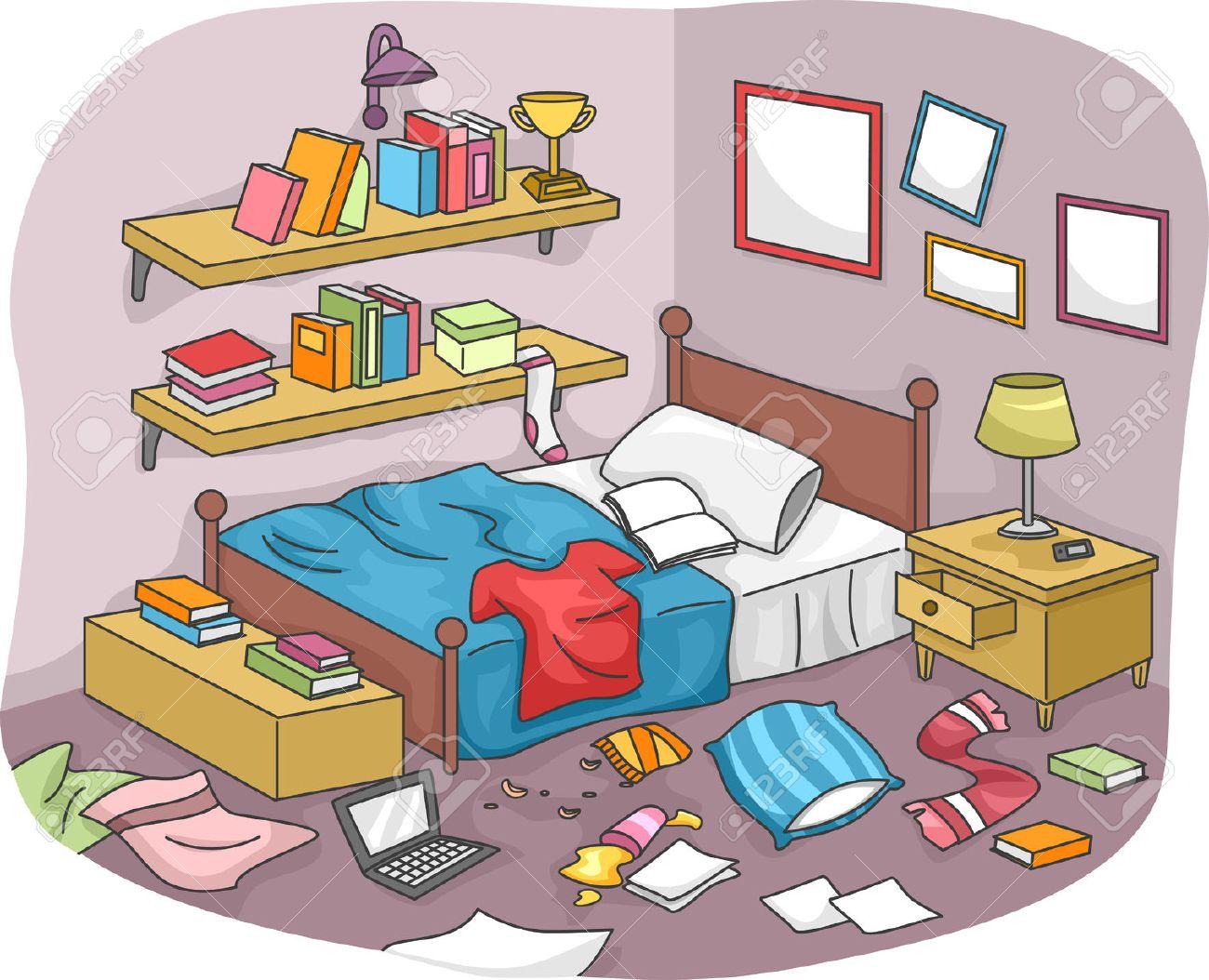 Resultado de imagen de habitación desordenada dibujo