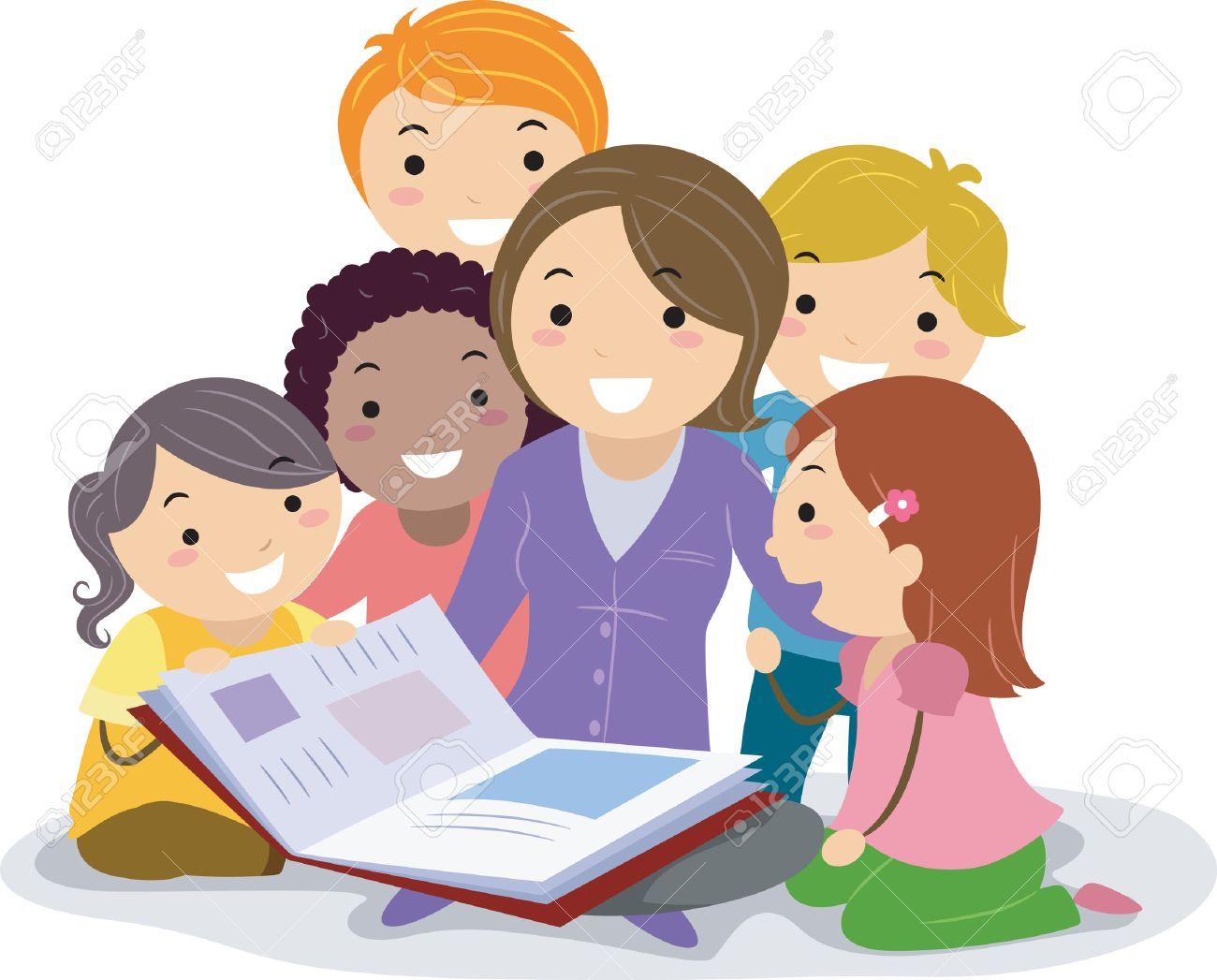 stickman illustration featuring kids huddled together while