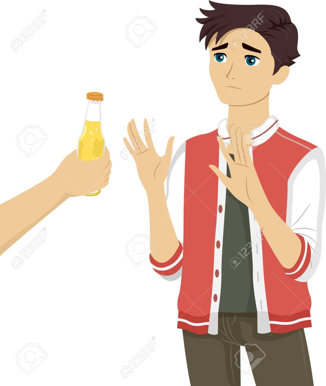 Beer Royalty Bottle Image Being Of Teenage Boy 36320215 A Photo The Refusing Illustration Free And Image Stock Picture
