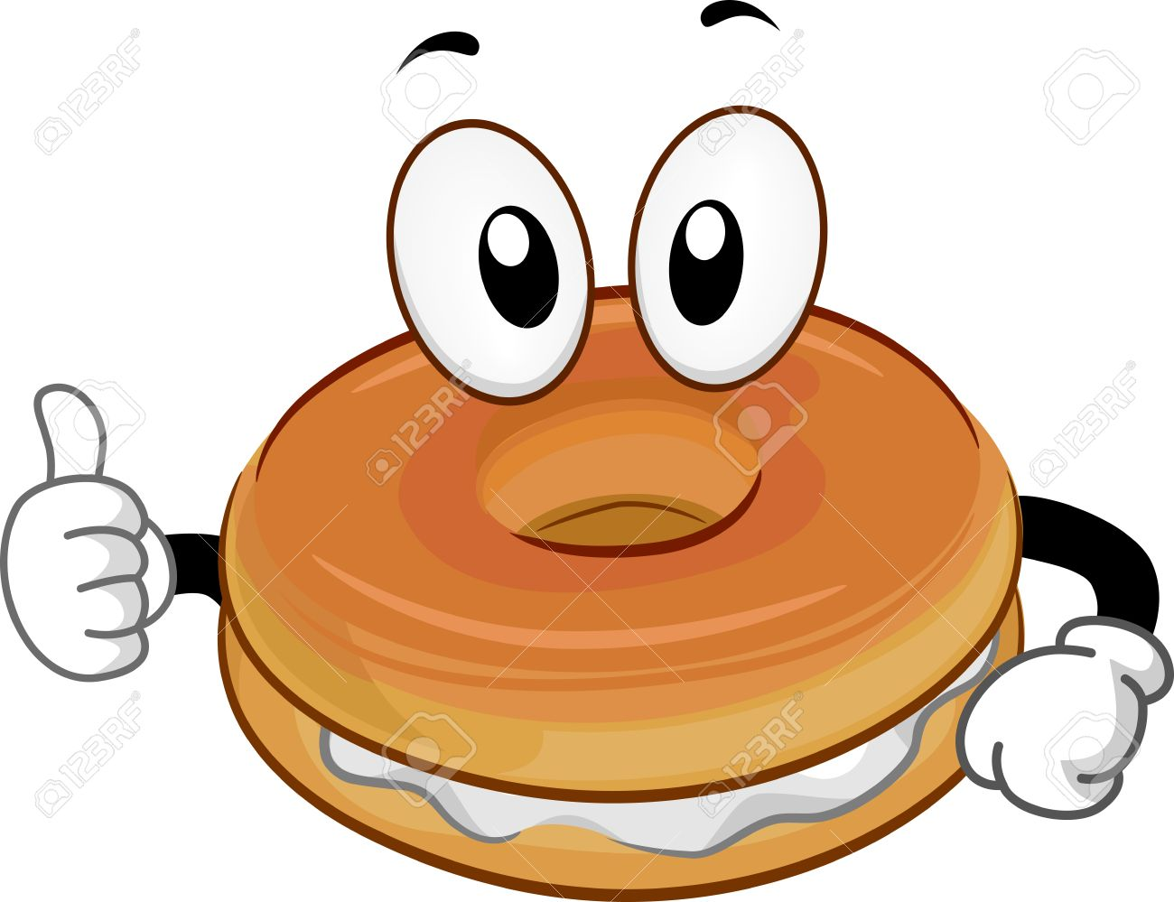 mascot illustration of a bagel giving a thumbs up stock photo rh 123rf com Bagel Bar Bagel Cartoon Clip Art