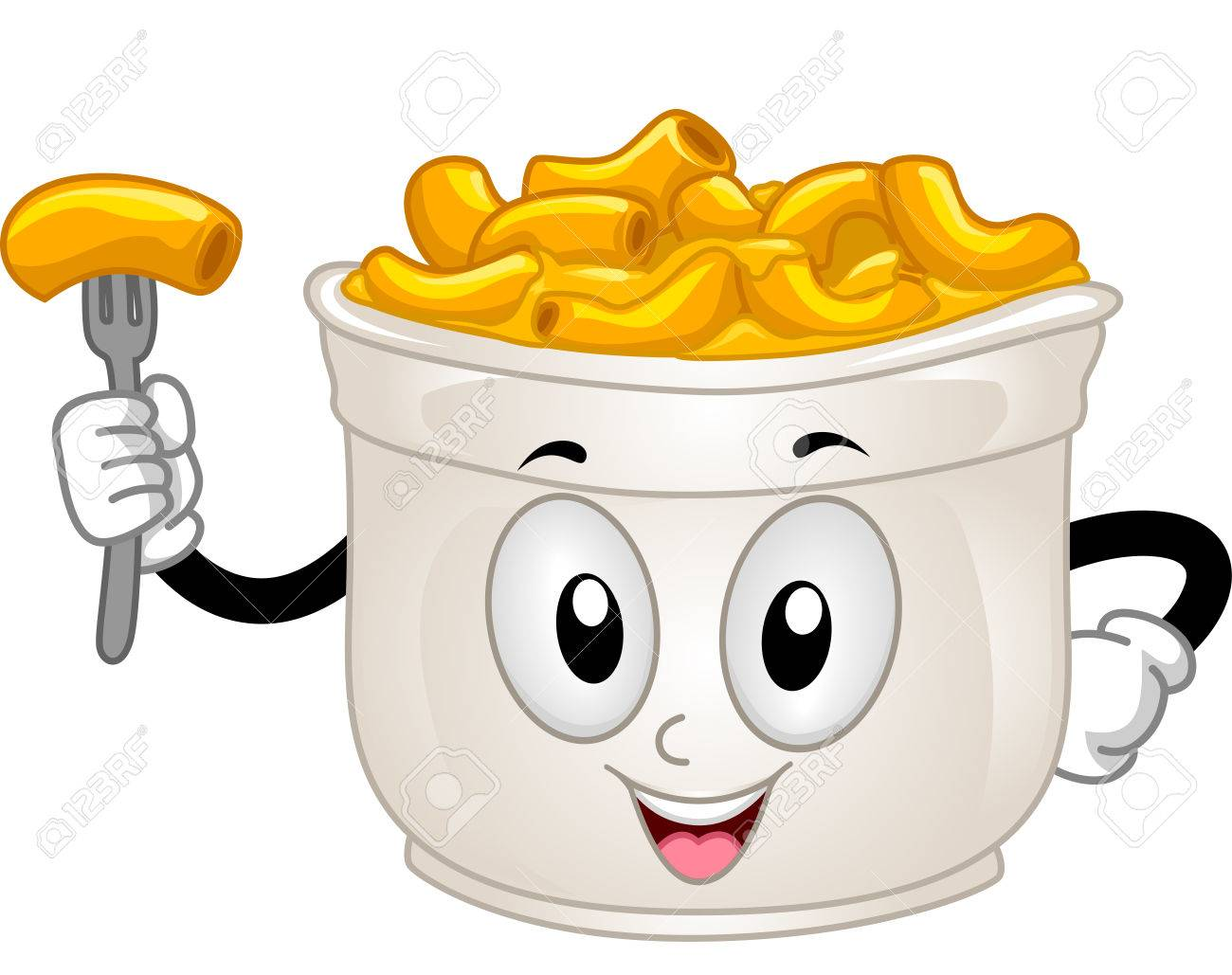mascot illustration of a cup of mac and cheese stock photo picture rh 123rf com macaroni and cheese clipart black and white