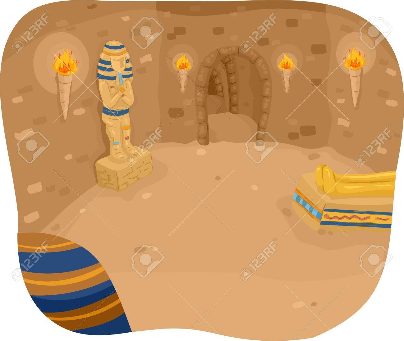 illustration avec lintrieur dune pyramide banque dimages 41685591