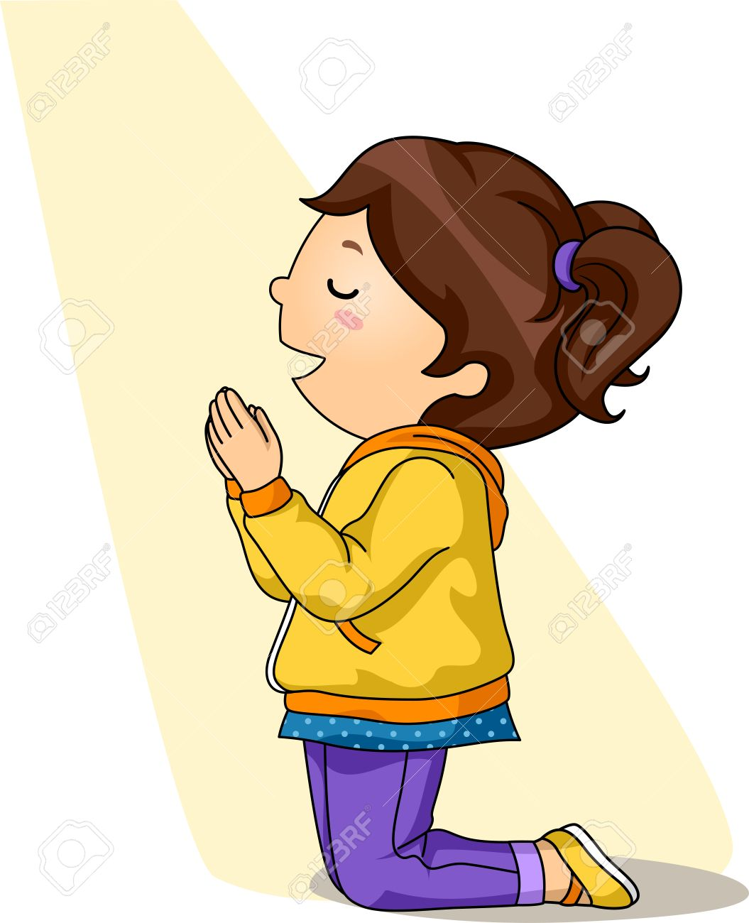 563 Child Praying Stock Vector Illustration And Royalty Free Child ...