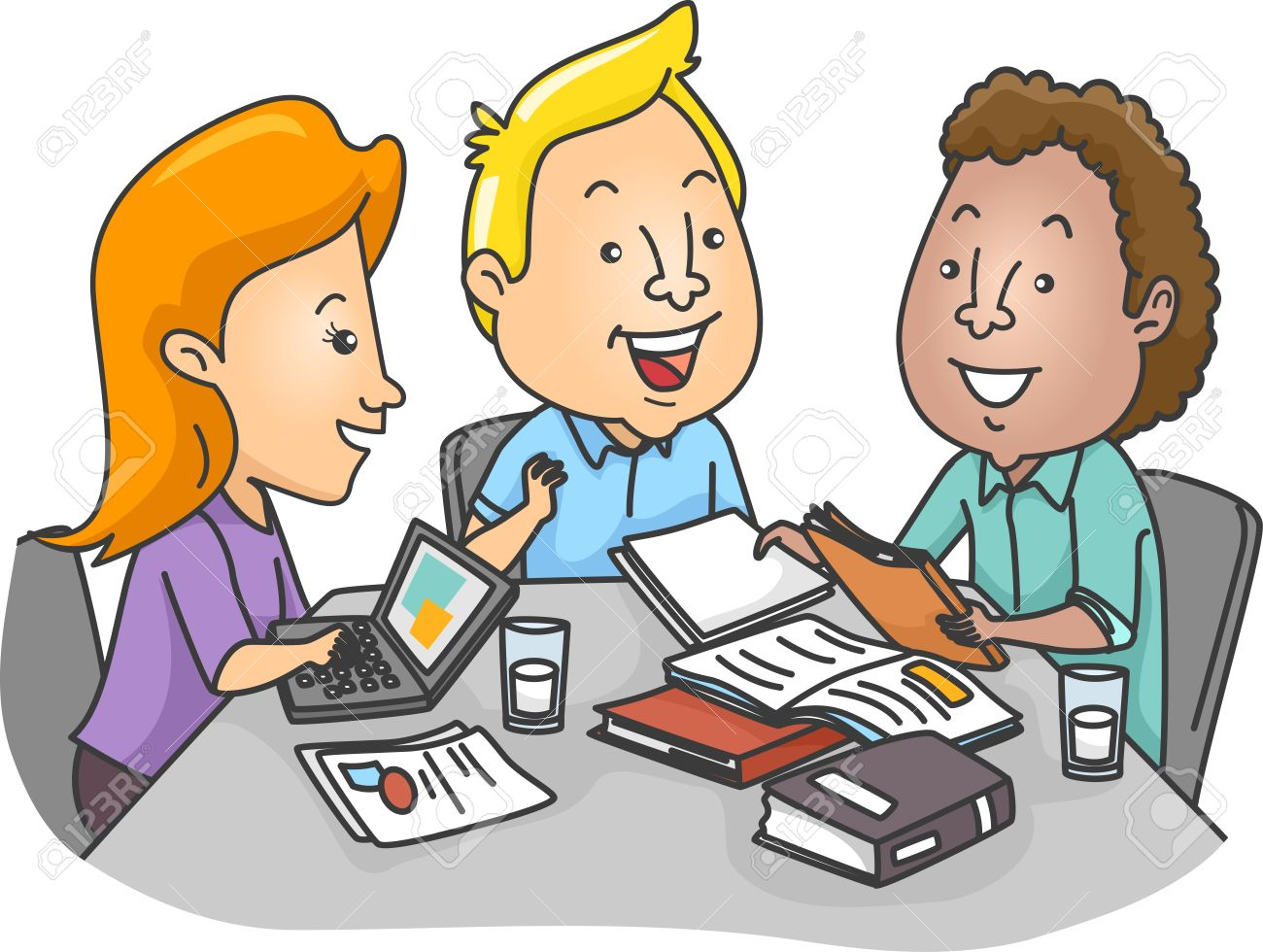 illustration of a group of college students studying together stock rh 123rf com student studying clip art free student studying clipart