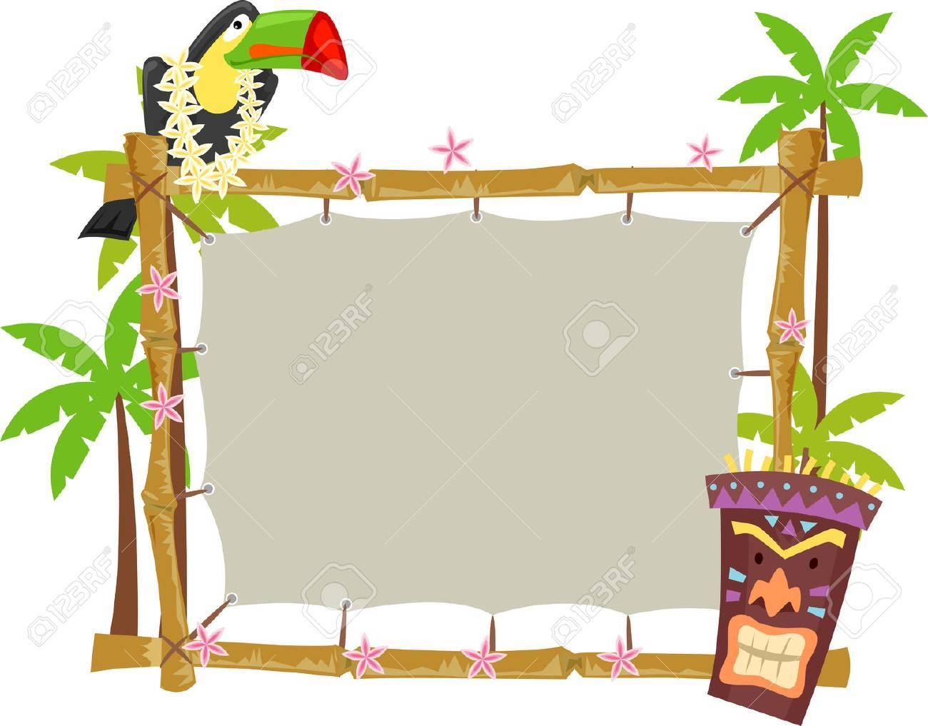 木枠の上に腰掛けてオオハシのイラスト の写真素材画像素材 Image