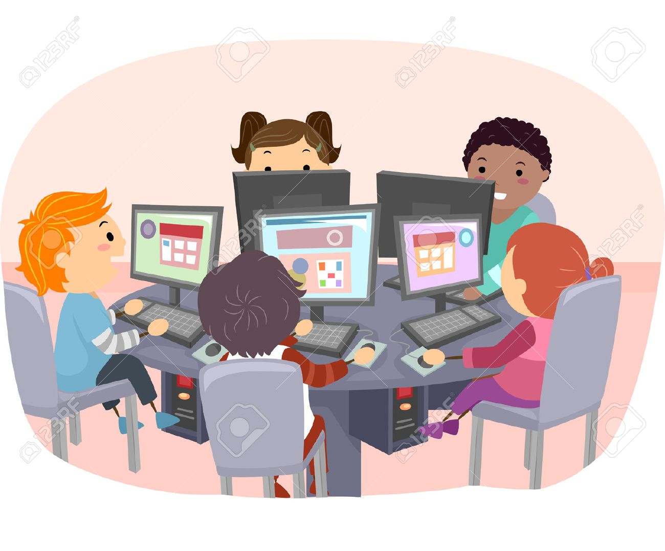 Image result for free images of kids on computers