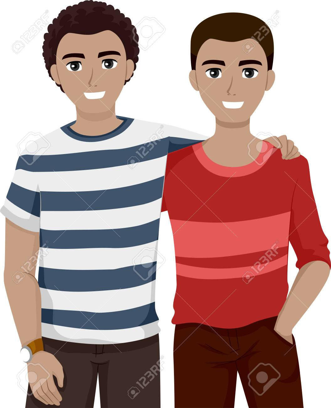 Illustration Of Teenage Best Friends Chilling ther Stock Photo ...