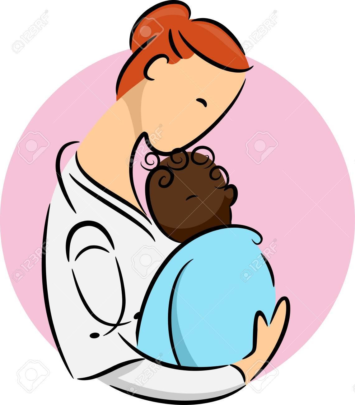 illustration of a pediatrician cradling a newborn african child rh 123rf com  woman pediatrician clipart