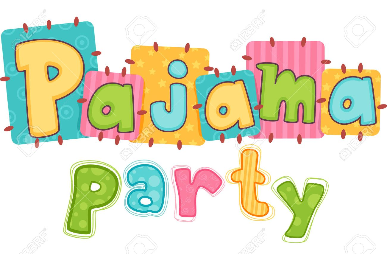 typography illustration featuring the phrase pajama party stock rh 123rf com pajama pizza party clipart pajama pizza party clipart